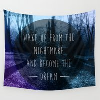 nightmare Wall Tapestries featuring Nightmare by Sam Thorpe