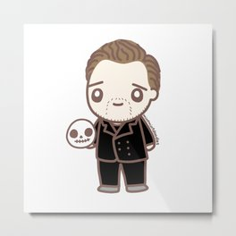 Tom as Hamlet Metal Print