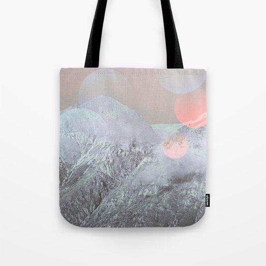 Bokeh Lights on Mountains Tote Bag