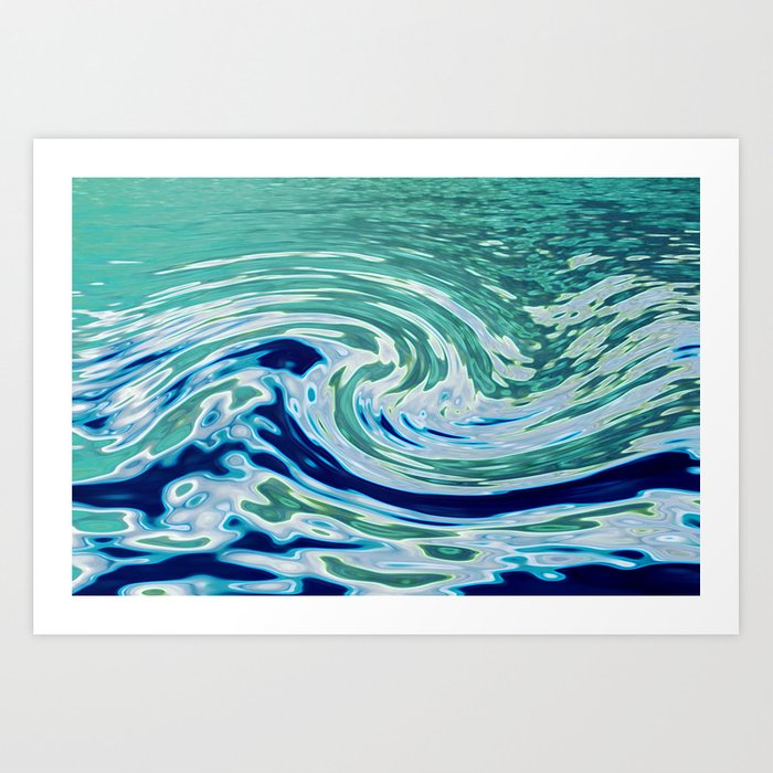 OCEAN ABSTRACT 2 Art Print By Catspaws