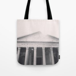 The Pantheon, fine art print, black & white photo, Rome photography, Italy lover, Roman history Tote Bag