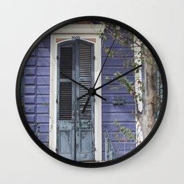 New Orleans Blue Marigny Door Wall Clock