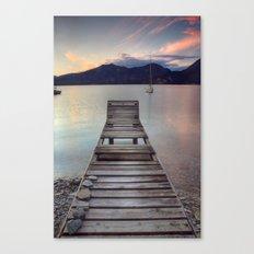 Jetty - Lake Maggiore, Italy Canvas Print