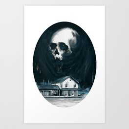 Begone Evil Spirit Art Print