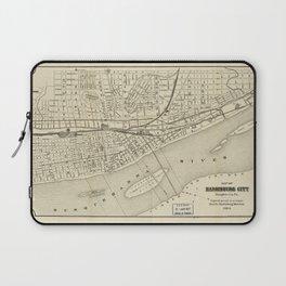 Map of Harrisburg, Pennsylvania (1884) Laptop Sleeve