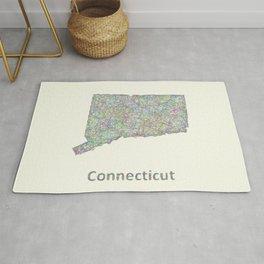 Connecticut map Rug