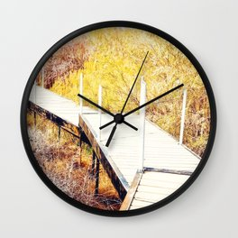 Stepping Down To The Golden World - From 'King Midas series' Wall Clock