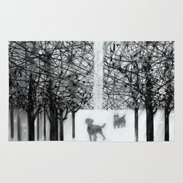 Walking dogs Rug