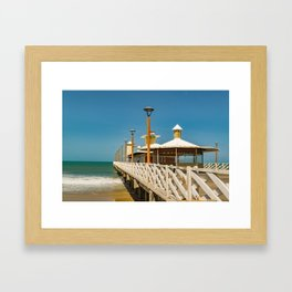 Breakwater Walkway at Fortaleza Beach Framed Art Print