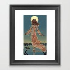 MoonFish Framed Art Print