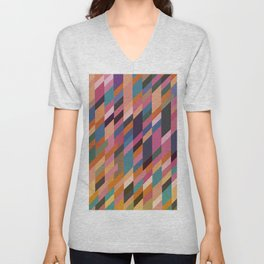 Abstract Composition 417 Unisex V-Neck