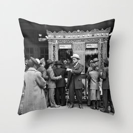 Movie Theater in South Side Chicago, 1940s Throw Pillow