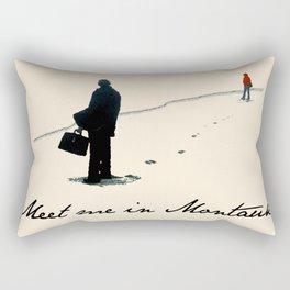 Meet Me In Montauk Rectangular Pillow
