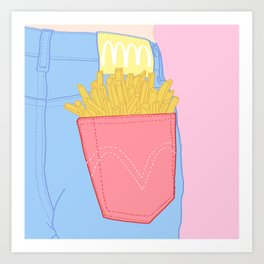 FRENCH FRIES TO-GO Art Print