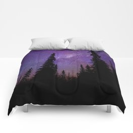 Milky Way Galaxy Over the Forest Comforters
