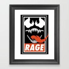 Rage. Framed Art Print