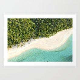 'Beach Curves' - Puka Beach, Boracay Island Aerial Photo Art Print