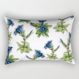 Blue Gentian Rectangular Pillow