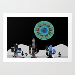 Cactus Moon City Serenade Art Print