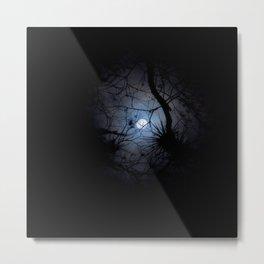 Everglades Moon Metal Print