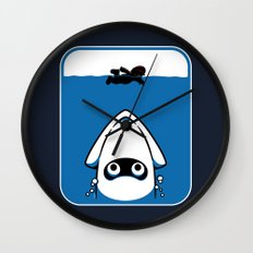 The Great White Blooper Wall Clock