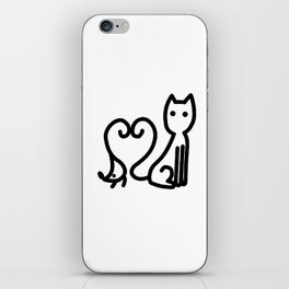 Chat et souris iPhone Skin