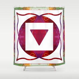Stabilized Emotions And Thoughtful Feelings Shower Curtain
