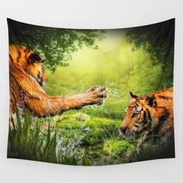 Tiger Tag Wall Tapestry