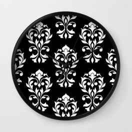 Heart Damask Pattern II WB Wall Clock
