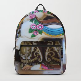 Vintage Carousel Horse galloping Backpack