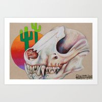 Gobi Skull Mini Art Print