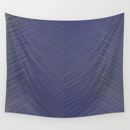 A Chevron in Blues and Greens Wall Tapestry