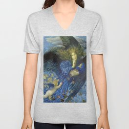 Night with her Train of Stars by Edward Robert Hughes Unisex V-Neck
