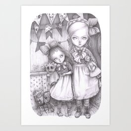 Subrina and Rosabel Art Print