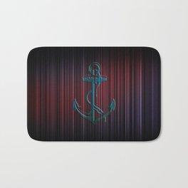 Anchor Stripes Watercolor Bath Mat