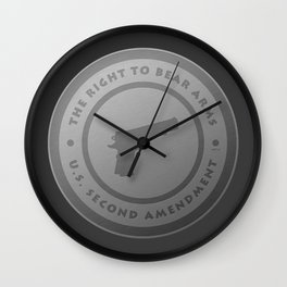 The Right To Bear Arms Wall Clock