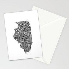 Typographic Illinois Stationery Cards