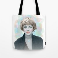90s Tote Bags featuring 90s drew by lanabeebear