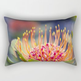 Tropical Sunburst - Leucospermum Pincushion Protea Flower Rectangular Pillow