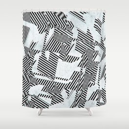 Work On The Verge Of Nothing Shower Curtain