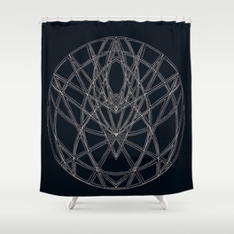 Arachne's Mandala Shower Curtain