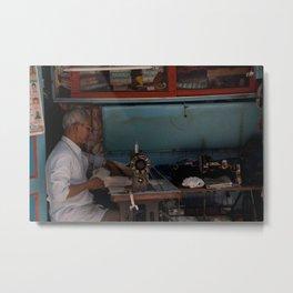 Street Tailor, Mumbai, India Metal Print