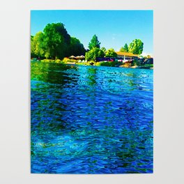Bright River Flowing Poster