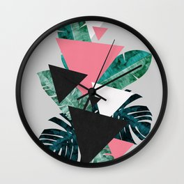 Tropical composition Wall Clock