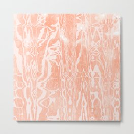 electric ave: peach Metal Print