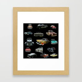 Hot Rod Heaven Framed Art Print
