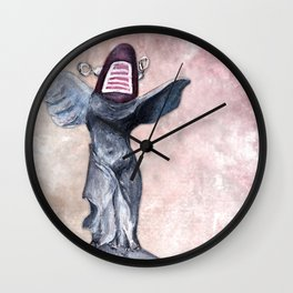 Winged Robot of Victory Wall Clock