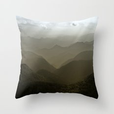 Caught in a mood... Throw Pillow