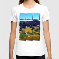 hiking T-shirts featuring Hiking through springtime scenery by Patrick Jobst