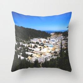 Bumpass Hell Pass Lassen Volcanic National Park Throw Pillow